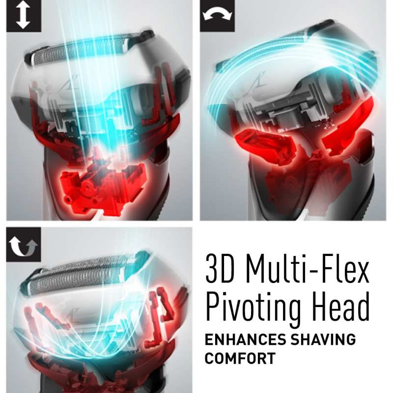 3D multi-flex pivoting head