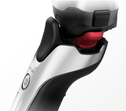 The thumb-rest and generous rubber insert on the new Arc3 LT shavers.