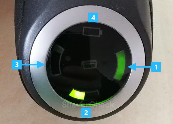 Braun Series 7 7865cc LCD indicators