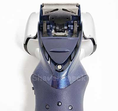 The pop-up trimmer is located on the back of the shaving head.
