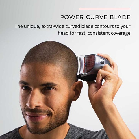 The curved blade profile of the HC4250 makes it ideal to shaving the head.