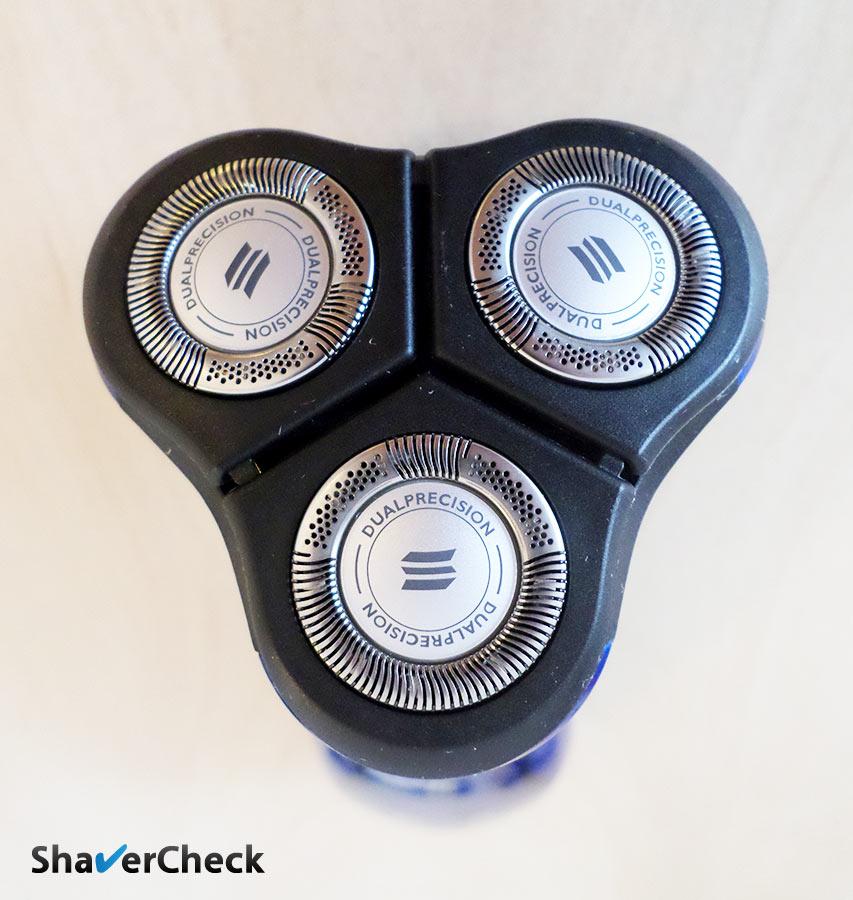 Rotary razor shaving head