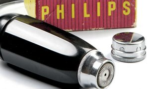 The world's first rotary shaver designed by Philips in 1939. Image credits: Philips