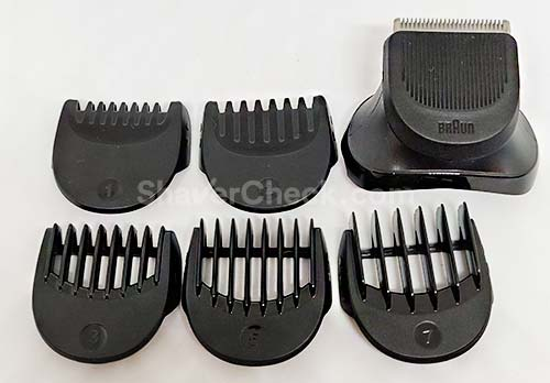 The 32BT trimmer and combs set.