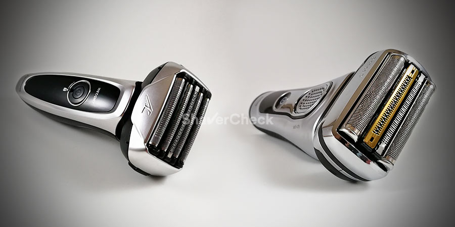Panasonic Arc 5 and Braun Series 9, two of the closest shaving electric razors you can currently buy.