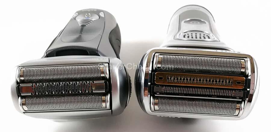 Braun Series 7 vs Series 9 shaving heads comparison.