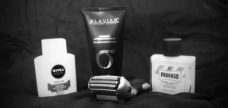 A quality aftershave can help with razor burn.