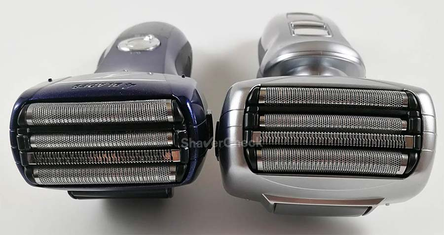 The Panasonic Arc 4 shaving head with its 4 blade cutting system.