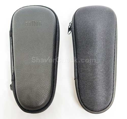 Braun Series 9 leather vs textile case.