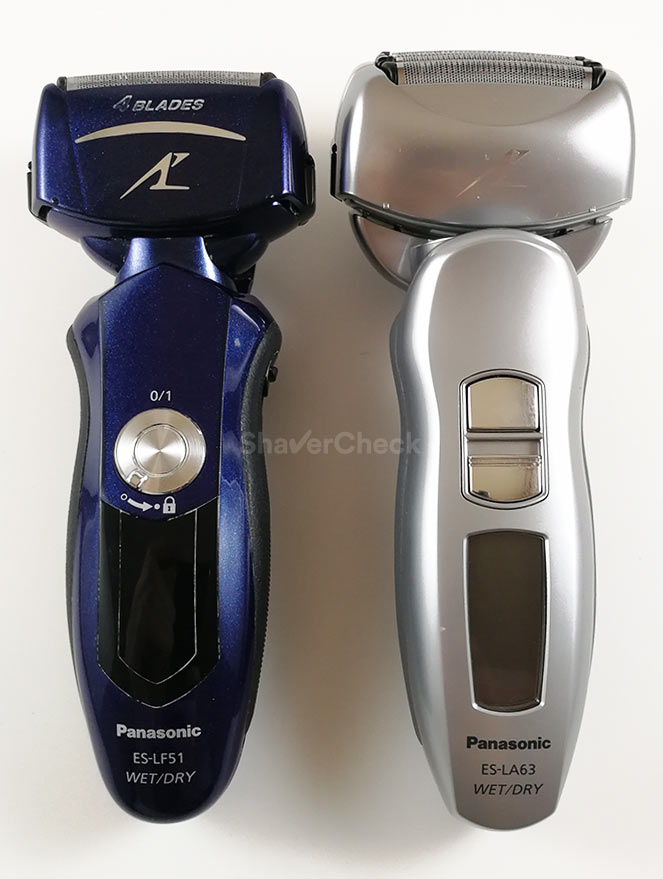 Two Arc 4 shavers with the trademark arched shape of the foils.