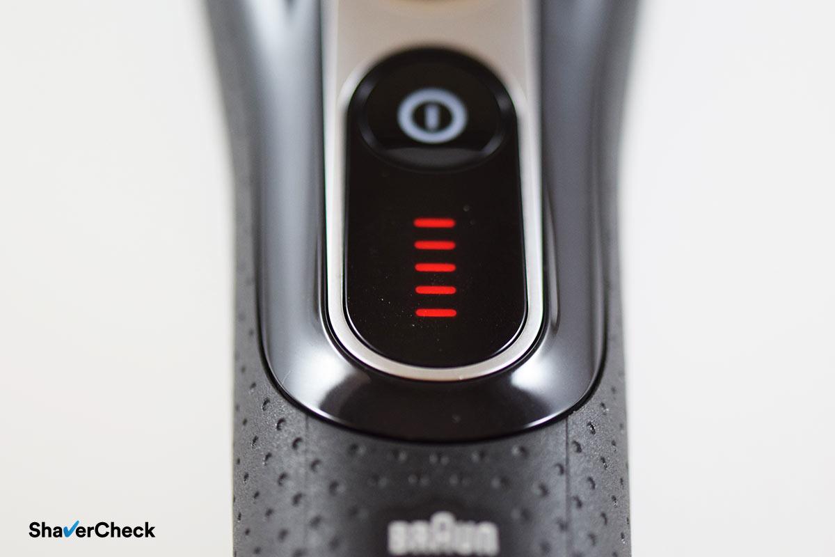 Braun Series 5 5090cc battery indicator