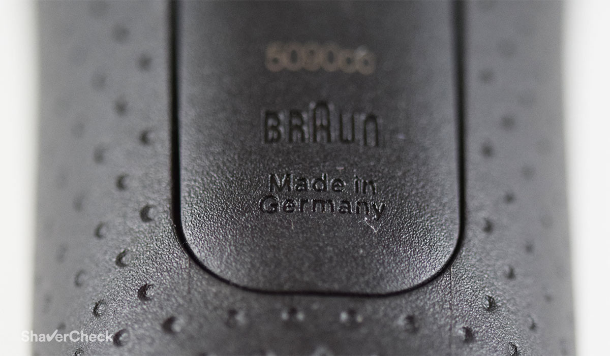 The Braun Series 5 is made in Germany