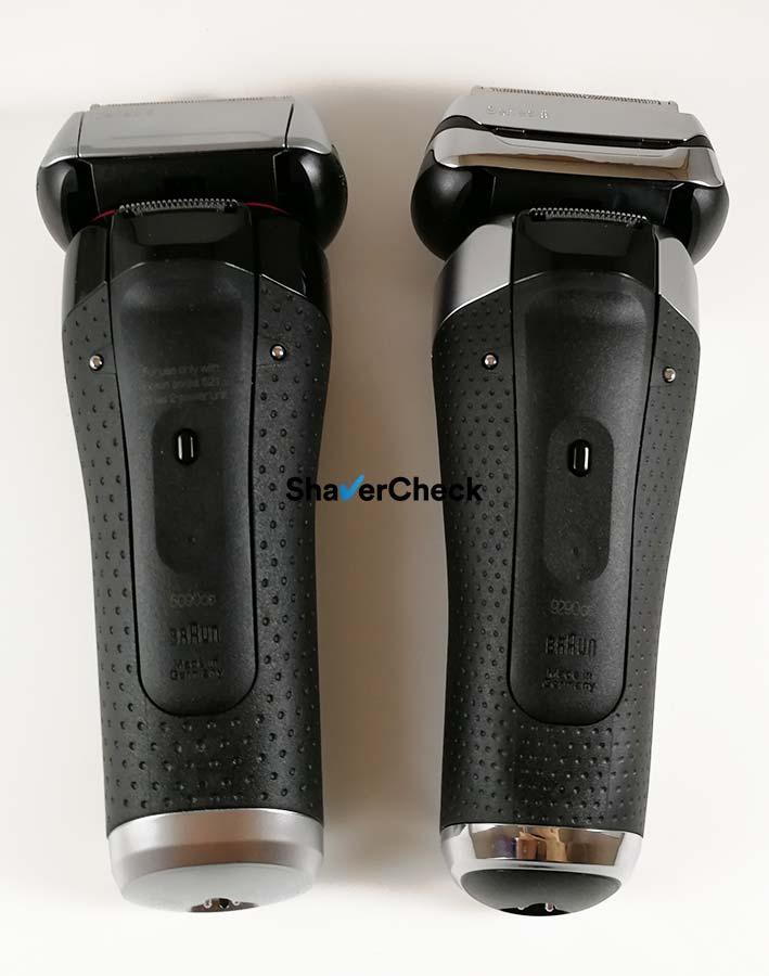 Braun Series 5 5090cc (left) and Braun Series 9 9290cc (right).