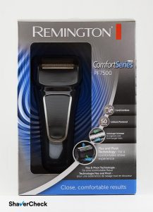 Remington PF7500 Comfort Series Pro shaving head box