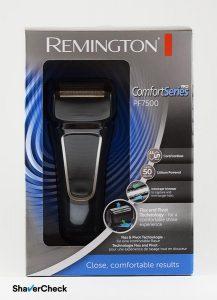 Remington PF7500 Comfort Series Pro shaving head box