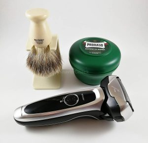 Wet shaving with a suitable electric razor can be beneficial if you have sensitive skin.