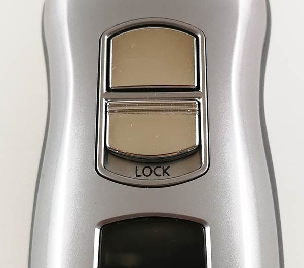 Panasonic ES-LA63-S travel lock switch