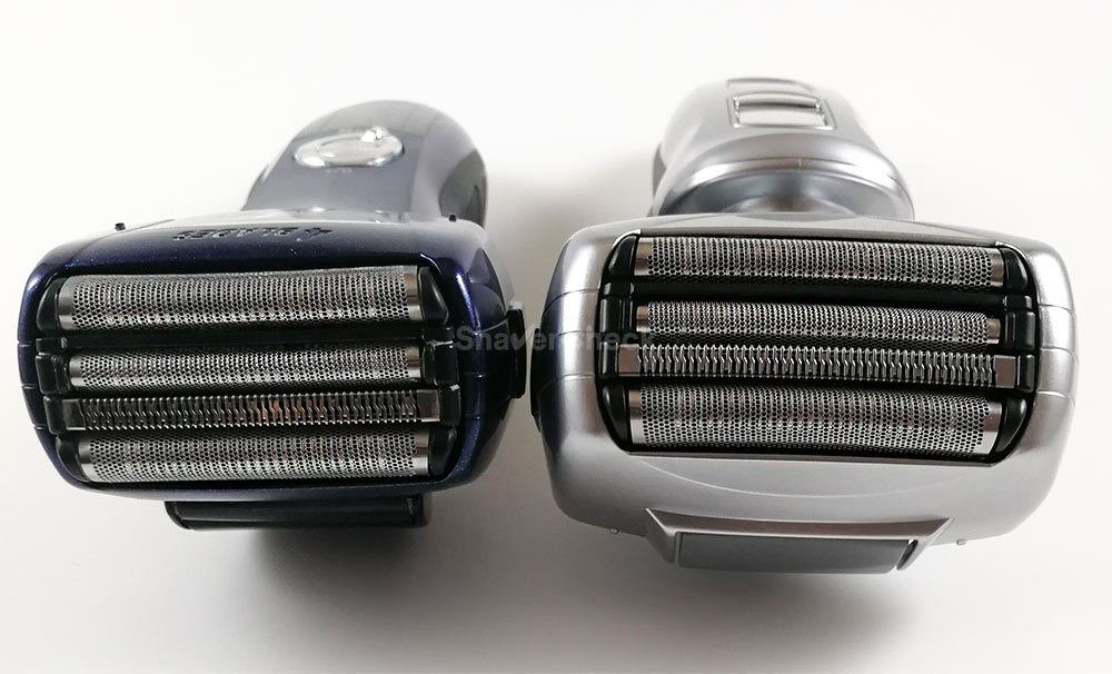 Panasonic ES-LF51-A shaving head (left) vs Panasonic ES-LA63-S (right)