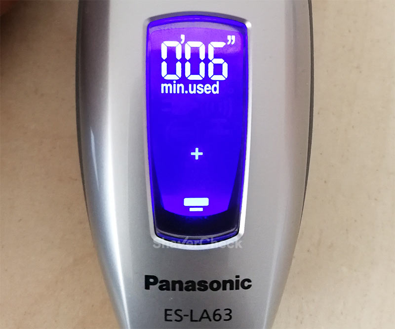 Panasonic ES-LA63-S counter