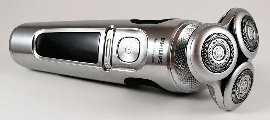 The Philips Norelco S9000 Prestige SP9820, arguably the best rotary electric shaver you can buy right now.