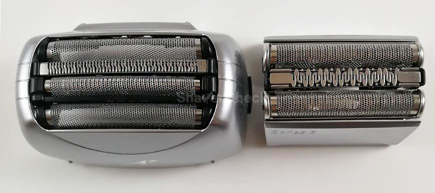 Panasonic ES-LA63-S vs Braun Series 5 shaving head