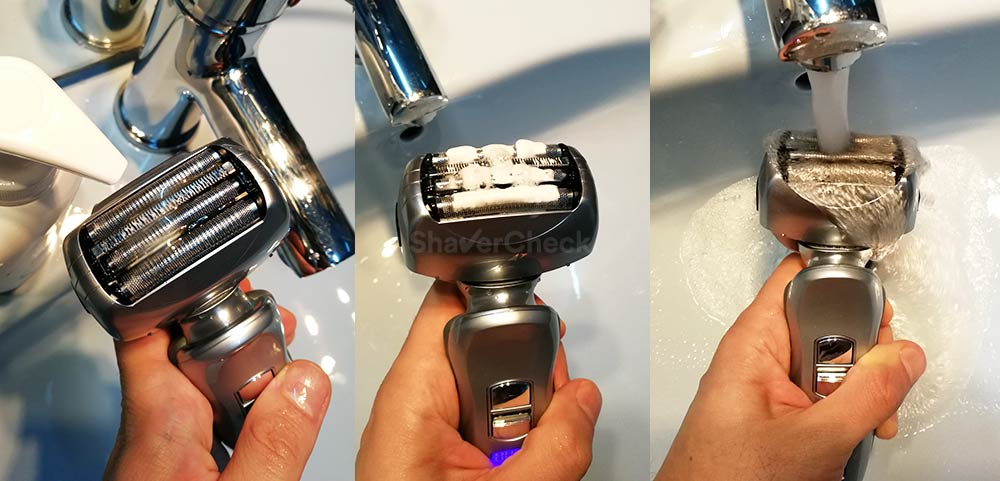 Cleaning a Panasonic shaver is extremely easy