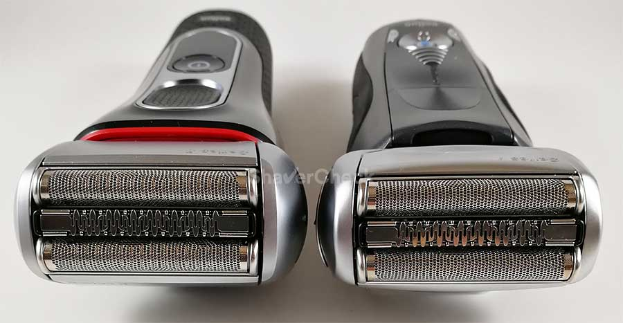 Braun Series 5 (left) vs Series 7 (right)