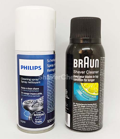 Philips and Braun cleaning sprays