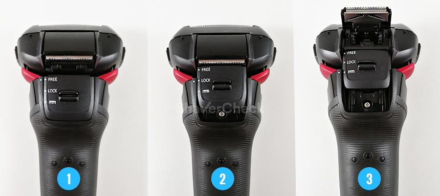 Panasonic ES-LT3N-K slider positions