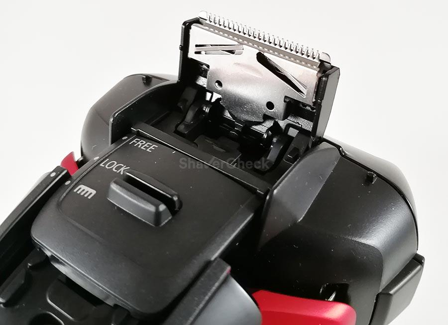 The Panasonic ES-LT3N-K popoup trimmer