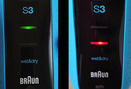 Braun Series 3 ProSkin 3010s battery indicator