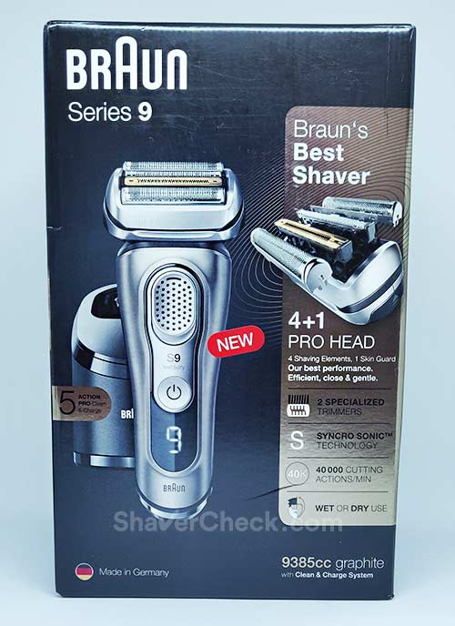 Braun Series 9 9385cc packaging.