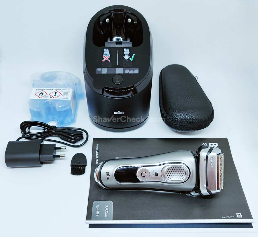 Braun Series 9 9385cc included accessories.