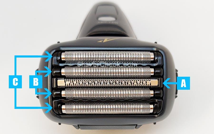 The 5 blade shaving head of the Panasonic ES-LV67/ES-LV97.