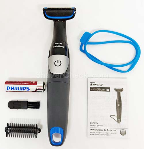 Philips Norelco Bodygroom 1100 accessories.