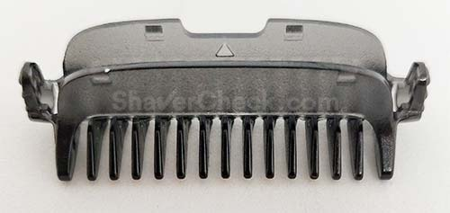The trimming comb attachment.