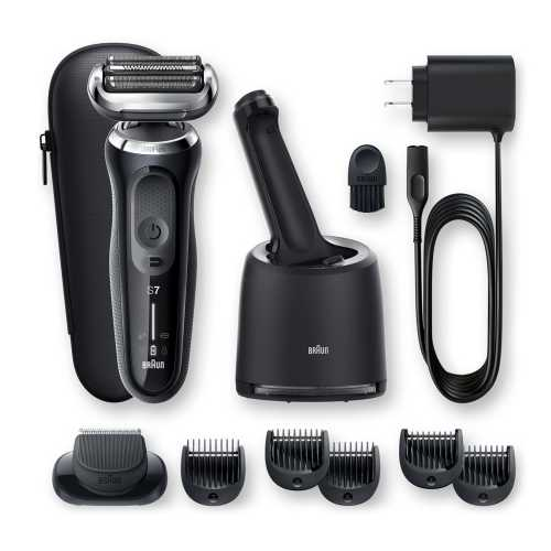 The accessories that come with The Braun Series 7 70 7075cc. Image credits: Braun.com