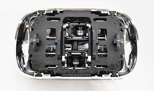 The intricate inner part of the cassette.
