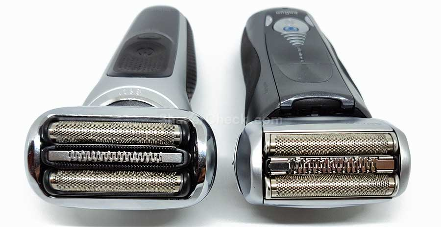 Braun Series 7 shaving head comparison.