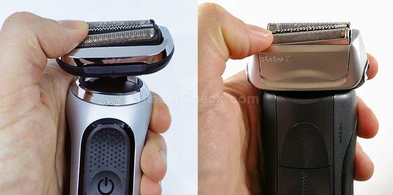 The Series 7 70 vs original Series 7 shaving head.