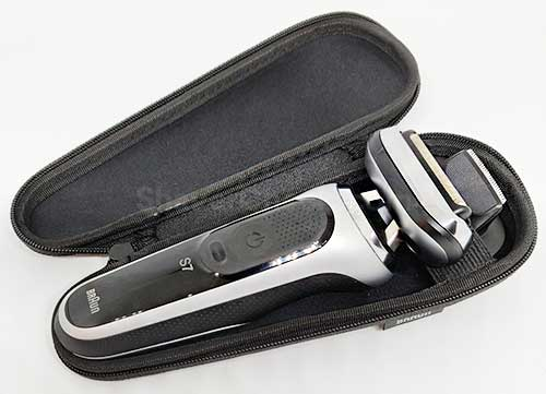The new Series 7 travel case can accommodate both the shaver and the trimmer.