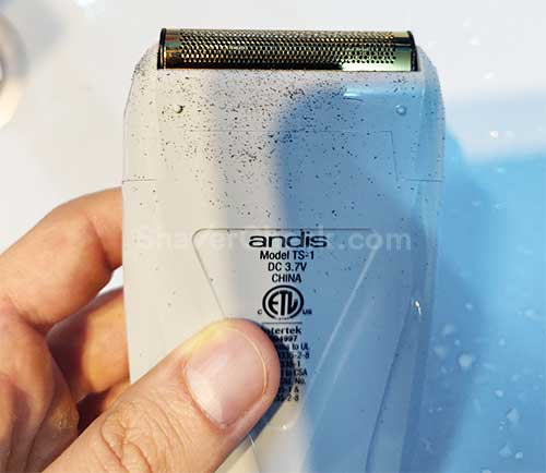 Fine hairs on the outside of the shaver.