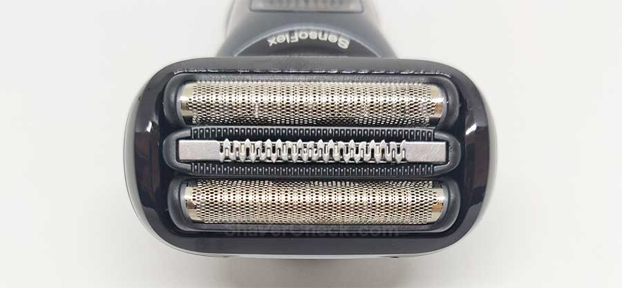 The three blade shaving system of the Braun Series 6.