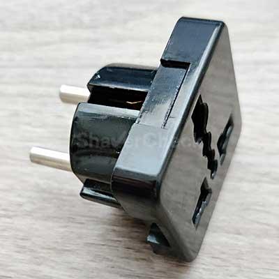European plug adapter.