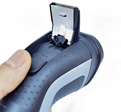 The extended hair trimmer of the Norelco Shaver 2300.