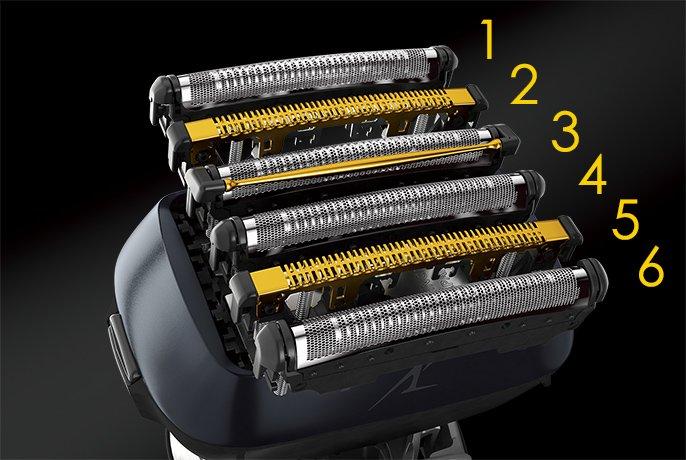 The 6 individual cutters of the Panasonic Lamdash 6.
