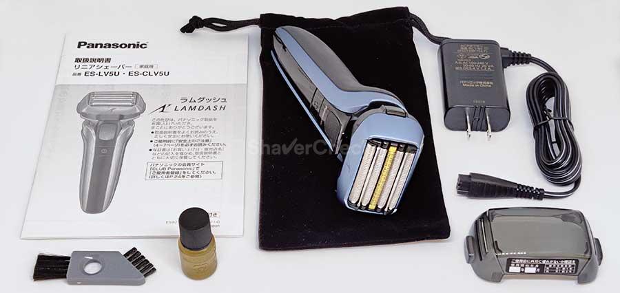 Panasonic Arc 5 ES-LV5U accessories.